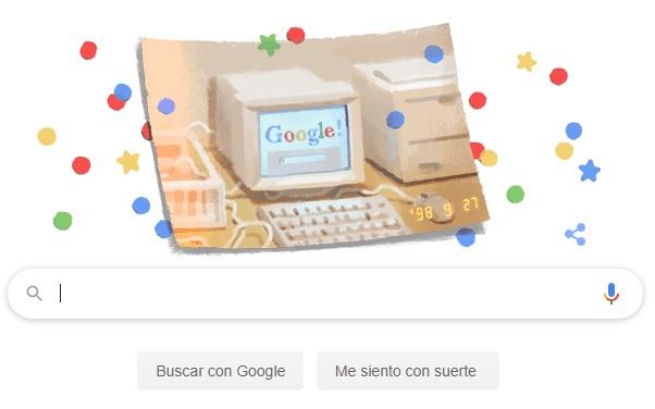"""Google cumple 21 años y los festeja con un """"doodle retro"""""""