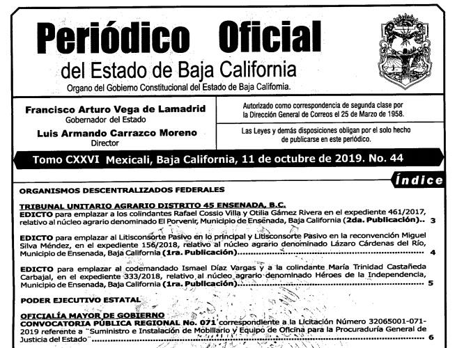 """Publican """"Ley Bonilla"""" en el diario oficial de BC"""